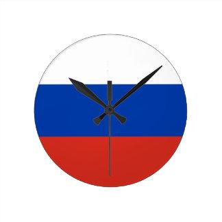 Flag of Russia - Флаг России - Триколор Trikolor Round Clock