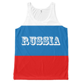 Flag of Russia All-Over Print Singlet
