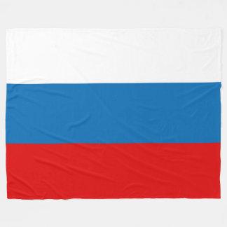 Flag of Russia Fleece Blanket