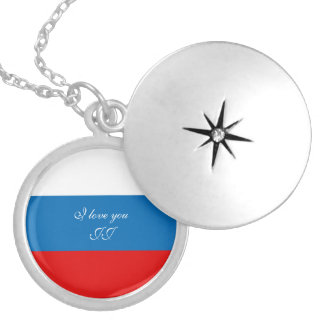 Flag of Russia Locket Necklace