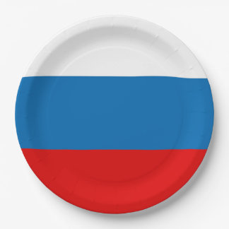 Flag of Russia Paper Plate