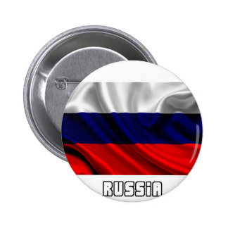Flag of Russia, Russian Flag Pinback Buttons