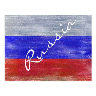 Flag of Russia - Russian Flag - Personalise Postcard