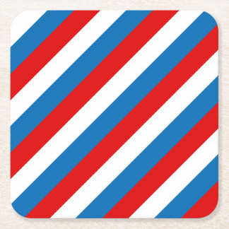 Flag of Russia Square Paper Coaster