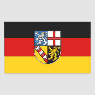 Flag of Saarland Rectangular Sticker