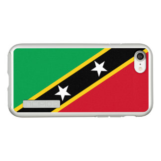 Flag of Saint Kitts and Nevis Silver iPhone Case