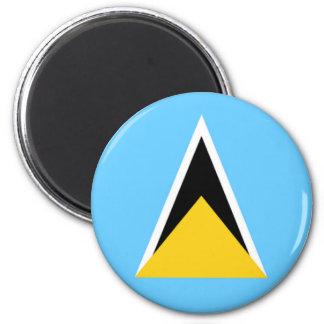 Flag of Saint Lucia 6 Cm Round Magnet