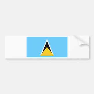 Flag of Saint Lucia Bumper Sticker