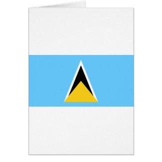 Flag of Saint Lucia Card