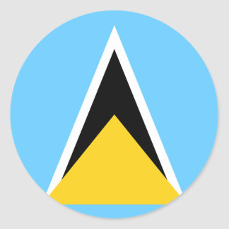 Flag of Saint Lucia Classic Round Sticker