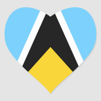 Flag of Saint Lucia Heart Sticker
