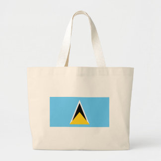Flag_of_Saint_Lucia Large Tote Bag