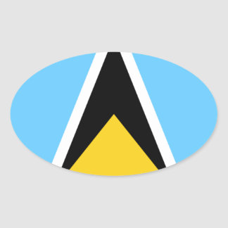 Flag of Saint Lucia Oval Sticker