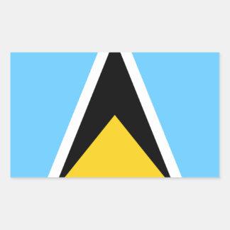 Flag of Saint Lucia Rectangular Sticker