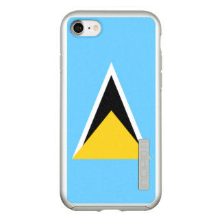 Flag of Saint Lucia Silver iPhone Case