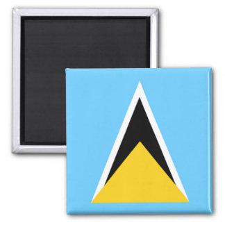 Flag of Saint Lucia Square Magnet