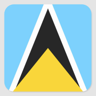 Flag of Saint Lucia Square Sticker