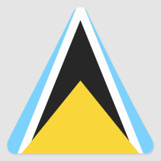 Flag of Saint Lucia Triangle Sticker