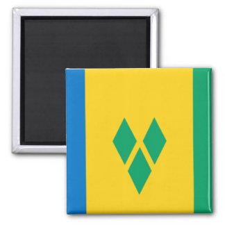 Flag of Saint Vincent Square Magnet