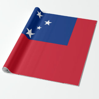 Flag of Samoa Island Wrapping Paper