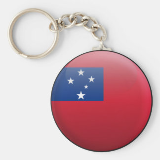 Flag of Samoa Key Ring