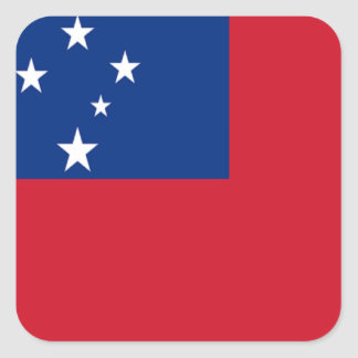 Flag of Samoa Square Sticker