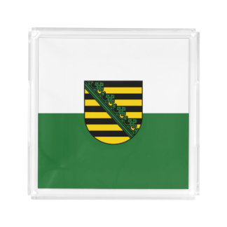 Flag of Saxony Acrylic Tray