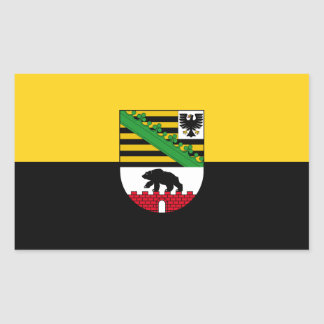 Flag of Saxony-Anhalt Rectangular Sticker