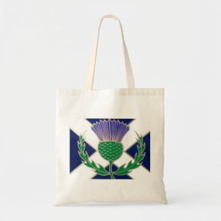 Flag of Scotland and Thistle Tote Bag