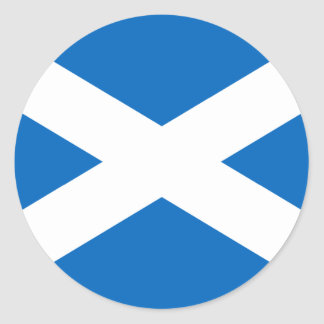Flag of Scotland Classic Round Sticker