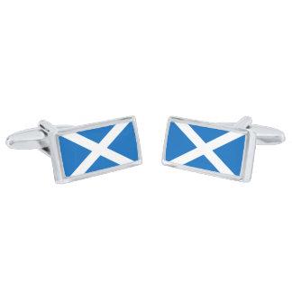 Flag of Scotland Cufflinks Silver Finish Cufflinks