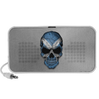 Flag of Scotland on a Steel Skull Graphic Travel Speakers
