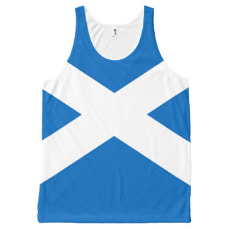 Flag of Scotland or Saltire All-Over Print Singlet