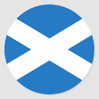 Flag of Scotland - Scottish Flag Round Sticker