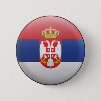 Flag of Serbia 6 Cm Round Badge