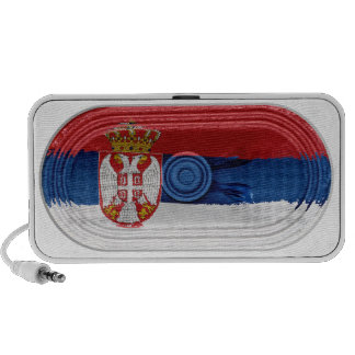 Flag Of Serbia White Eagle Crown On Doodle Speaker