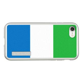 Flag of Sierra Leone Silver iPhone Case