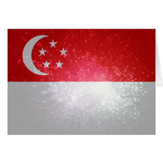 Flag of Singapore Note Card