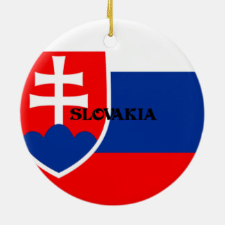 Flag of Slovakia Ceramic Ornament