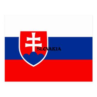 Flag of Slovakia design Postcard