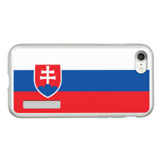 Flag of Slovakia Silver iPhone Case