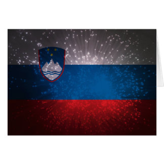 Flag of Slovenia Note Card