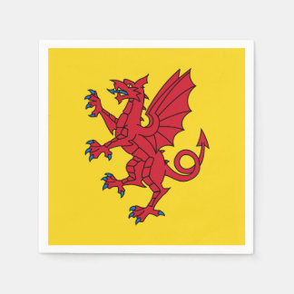 Flag of Somerset Disposable Serviettes