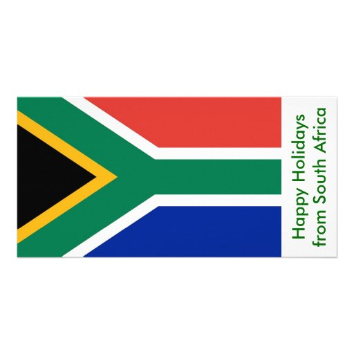Flag of South Afric, Happy Holidays from Africa Photo Card