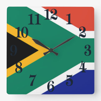 Flag of South Africa Bokke Square Wall Clock