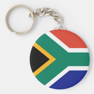 Flag of South Africa Basic Round Button Key Ring