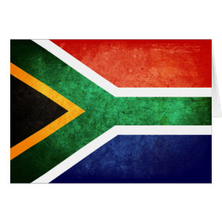Flag of South Africa Note Card
