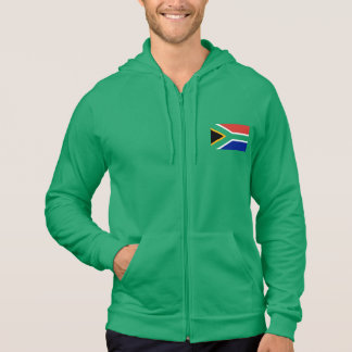 Flag Of South Africa On Green Hoodie