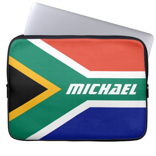 Flag of South Africa Personalised Laptop Sleeve
