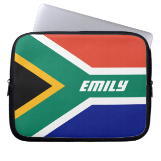 Flag of South Africa Personalized Laptop Sleeve